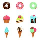 Vector el ejemplo del postre de los dulces aislado en el fondo blanco libre illustration