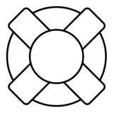 Vector el ejemplo del salvavidas en colores blancos y negros Icono plano del esquema EPS 10 Imagen de archivo libre de regalías