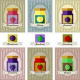 Vector el ejemplo del sistema de color de diferentes tipos de atascos con adentro Foto de archivo