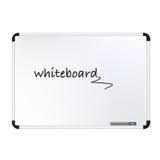 Vector el ejemplo del tablero blanco con los fabricantes y el borrador coloreados Imagen de archivo