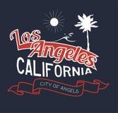 Vector el ejemplo en el tema de Los Ángeles, California ilustración del vector