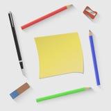 Vector el ejemplo en el tema de nuevo a la escuela Fotografía de archivo libre de regalías