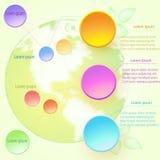 Vector el ejemplo infographic con los elementos y el globo redondos Fotos de archivo