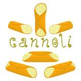 Vector el ejemplo para el postre siciliano c de las diversas galletas dulces Fotos de archivo libres de regalías