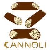 Vector el ejemplo para el postre siciliano c de las diversas galletas dulces Fotografía de archivo