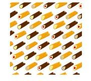 Vector el ejemplo para el postre siciliano c de las diversas galletas dulces Fotografía de archivo libre de regalías