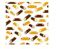 Vector el ejemplo para el postre siciliano c de las diversas galletas dulces Imágenes de archivo libres de regalías