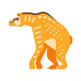 Vector el ejemplo plano del estilo del animal prehistórico - Chalicothere stock de ilustración