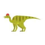 Vector el ejemplo plano del estilo del animal prehistórico - Corythosaurus stock de ilustración