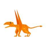 Vector el ejemplo plano del estilo del animal prehistórico - Dimorphodon stock de ilustración