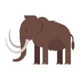 Vector el ejemplo plano del estilo del animal prehistórico - mamut stock de ilustración