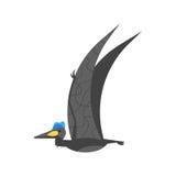 Vector el ejemplo plano del estilo del animal prehistórico - Quetzalcoatlus ilustración del vector