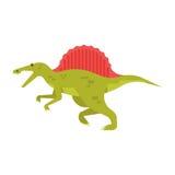 Vector el ejemplo plano del estilo del animal prehistórico - spinosaurus ilustración del vector