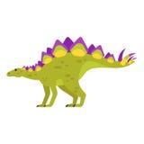 Vector el ejemplo plano del estilo del animal prehistórico - Stegosaurus ilustración del vector