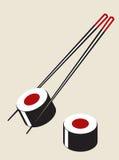 Vector el ejemplo simple del sushi Fotografía de archivo