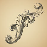 Vector el elemento barroco del diseño del modelo de la vendimia Foto de archivo libre de regalías
