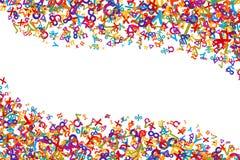 Vector el elemento colorido del fondo de las matemáticas en estilo plano Fotos de archivo