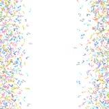 Vector el elemento colorido del fondo de las notaciones de música en estilo plano Foto de archivo libre de regalías