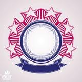 Vector el elemento del diseño corporativo, wi celebrative del emblema del web de las estrellas Fotos de archivo