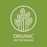 Vector el emblema orgánico abstracto, monograma del esquema, símbolo de la flor, impresión, sello stock de ilustración
