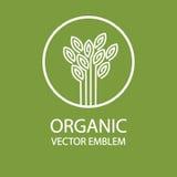 Vector el emblema orgánico abstracto, monograma del esquema, símbolo de la flor, impresión, sello ilustración del vector