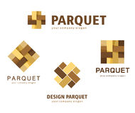 Vector el entarimado del logotipo, lamina, suelo, tejas stock de ilustración