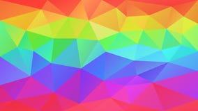 Vector el espectro a todo color rayado horizontal del arco iris del fondo poligonal irregular abstracto - vibr Fotos de archivo