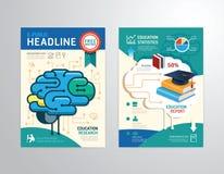 Vector el folleto, aviador, diseño del cartel del folleto de la portada de revista Foto de archivo