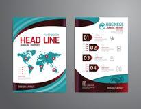 Vector el folleto, aviador, diseño del cartel del folleto de la portada de revista Fotos de archivo