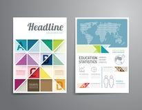 Vector el folleto, aviador, diseño del cartel del folleto de la portada de revista Imágenes de archivo libres de regalías