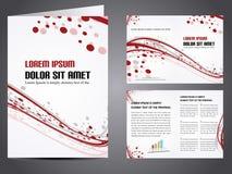 Vector el folleto del asunto Imagen de archivo
