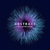 Vector el fondo abstracto con las ondas, línea y las partículas dinámicas coloreadas Ejemplo en estilo minimalistic libre illustration