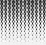 Vector el fondo abstracto de semitono, gradación blanca negra de la pendiente El hexágono geométrico del mosaico forma el modelo  stock de ilustración