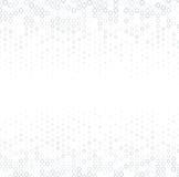 Vector el fondo abstracto de semitono, textura del blanco gris, gradación de la pendiente El círculo geométrico del mosaico forma Foto de archivo libre de regalías
