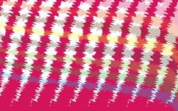 Vector el fondo abstracto del ejemplo del rosa caótico, púrpura del amarillo, líneas marrones de las curvas Foto de archivo