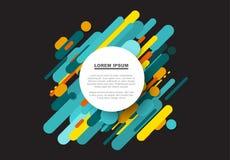 Vector el fondo abstracto hecho de líneas de color grandes Fotos de archivo libres de regalías