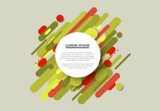 Vector el fondo abstracto hecho de líneas de color grandes Fotografía de archivo libre de regalías