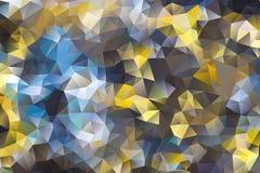 Vector el fondo abstracto multicolor de los triángulos geométricos del efecto Imagen de archivo
