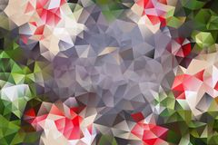Vector el fondo abstracto multicolor de los triángulos geométricos del efecto Fotografía de archivo libre de regalías