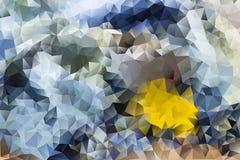 Vector el fondo abstracto multicolor de los triángulos geométricos del efecto Fotos de archivo