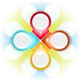 Vector el fondo cruzado con la información sobre la compañía Imágenes de archivo libres de regalías