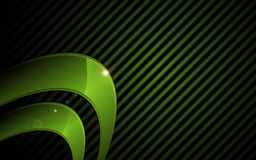 Vector el fondo de alta tecnología del concepto del marco gráfico metálico verde abstracto ilustración del vector