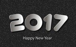 Vector el fondo 2017 de la Feliz Año Nuevo con los cortes de papel Imágenes de archivo libres de regalías