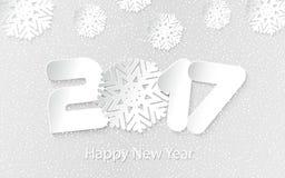 Vector el fondo 2017 de la Feliz Año Nuevo con los cortes de papel Fotografía de archivo