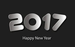 Vector el fondo 2017 de la Feliz Año Nuevo con los cortes de papel Imagen de archivo libre de regalías
