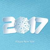 Vector el fondo 2017 de la Feliz Año Nuevo con los cortes de papel Foto de archivo