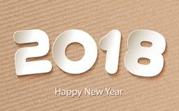 Vector el fondo 2017 de la Feliz Año Nuevo con los cortes de papel Fotografía de archivo libre de regalías