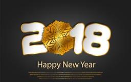 Vector el fondo 2017 de la Feliz Año Nuevo con los cortes de papel Imagen de archivo