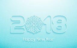Vector el fondo 2018 de la Feliz Año Nuevo con los cortes de papel Foto de archivo libre de regalías