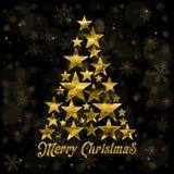 Vector el fondo 2016 de la tarjeta de felicitación de la Feliz Navidad y de la Feliz Año Nuevo para el web y app móvil, ejemplo d Imagen de archivo